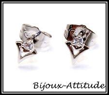 Boucles d'oreilles LILOU zirconium sur plaqué rhodium