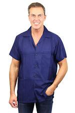 Funky Camisa Hawaiana Blancs Azul Marino