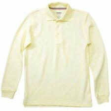 French Toast Toddler Boy's Long Sleeve Pique Polo Light Yellow Uniform Shirt