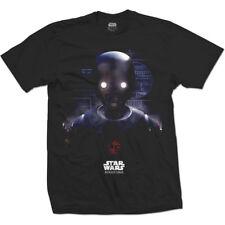 STAR WARS Mens Black T-Shirt Rogue One K-2SO Prime Force