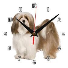 "Handmade ""Lhasa Apso"" pet dog novelty gift present wall clock"