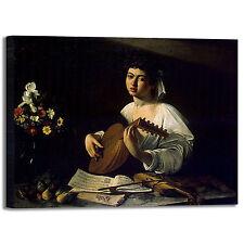 Caravaggio suonatore di liuto quadro stampa tela dipinto telaio arredo casa