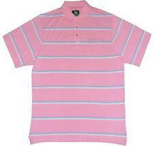 Louie James Cotone Ricco leggero Pk Polo (BK200) in rosa / cielo, dimensioni 2XL-6XL