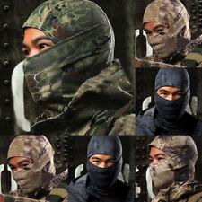 Cycling Tactical Quick-drying Full Face Mask Hood Balaclava Hat Cap Scarf Camo