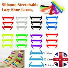 Cordones sin atar perezoso Zapato De Color Silicona Elástico Fácil cordones hechos de 12 piezas
