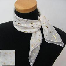A0088 STAR GOLD FOIL  PRINTED SCARF mini new neckscarf