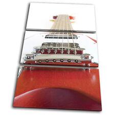 Musical Guitar INSTRUMENTS TREBLE DOEK WALL ART foto afdrukken