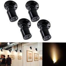 4x MINI FARETTO LED 360° BIANCO CALDO 1w ORIENTABILE PUNTO LUCE