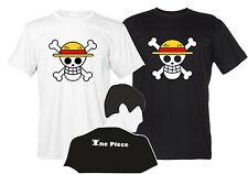 One Piece Maglietta Jolly Roger T-Shirt Manga Uomo Stampa Fronte Retro