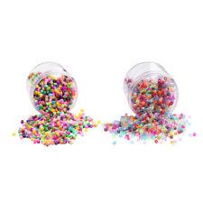 Plástico Acrílico Transparente/Opaco suelta perlas granos de poni barril con una caja