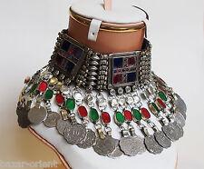 Original Afghan antik Nomaden orient tribaldance bellydance choker kette Necklac