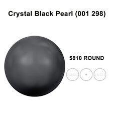 CRYSTAL BLACK PEARL (001 298) Genuine Swarovski 5810 Round *Pick Sizes