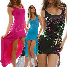 Abito vestitino donna copricostume asimmetrico vestito jersey viscosa AS-5802