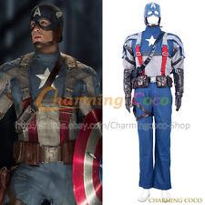 Captain America: The First Avenger Steve Rogers Cosplay Costume Movie Uniform