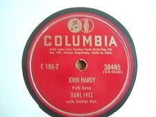 78 GIRI BURL IVES JOHN HARDY / THE DIVIL AND THE FARMER COLUMBIA 1949