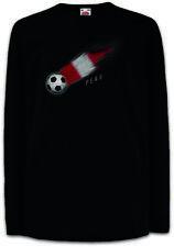Peru Football Comet I Kids Long Sleeve T-Shirt peruvian Soccer Flag World