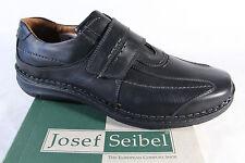 Josef Seibel Mocassins Chaussures basses Femme Baskets Cuir Noir 43332 NEUF
