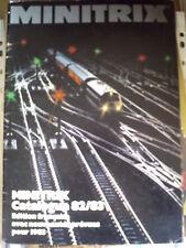 Catalogo Minitrix 1982-83 treni - Francese