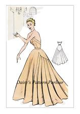 1950 S vintage sewing pattern robe de soirée robe ECLAIR COUPE PARIS COCKTAIL 1950