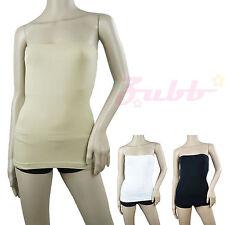 Stretch Seamless Tube Top SLIMMING Strapless Sleeveless Tee Layering Basic Shirt