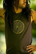Hatha Singlet (Om; Chakra or Sri Yantra Patterns) - Yoga Cut Indie Boho Gypsy