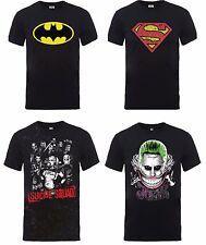DC Comics Mens T Shirts New Short Sleeve Superman Batman Joker Harley Quinn UK