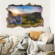 3D Rainbow Sun Hills 78 Wall Murals Wall Stickers Decal breakthrough AJ WALL CA