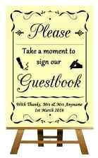 GIALLO guest BOOK nozze PERSONALIZZATA segno / POSTER