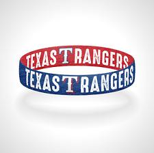 Reversible Texas Rangers Bracelet Wristband