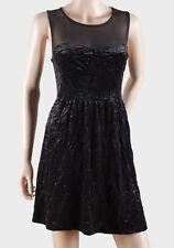 Ladies New Top Shop Black Velour Party Dress in Women's UK Size 8 & 10