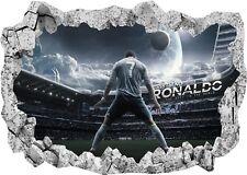 CR7 Cristiano Ronaldo Madrid Football 3d Window Wall View Sticker Poster 1007