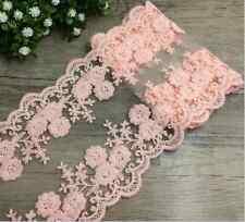 Fp03 12cm/1 Yard Dress Skirt Handicraft Embroidered Net Lace Trim Ribbon cotton