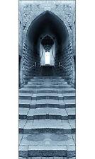 Sticker porte déco trompe l'oeil Escalier réf 619 (4 Tailles au choix)