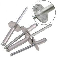 M5/5mm Extra Large Flange(16mm) Head Pop Rivets Aluminium Open Blind 8~25mm New
