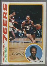 1978-79 Topps #116 Lloyd Free Philadelphia 76ers RC Rookie Basketball Card