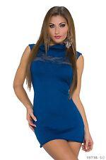 Mini Vestido Women's Wear Chic Elegante de Jersey de cuello de encaje tamaño de Reino Unido 10