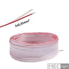(0,49€/m)5-100m LED Kabel Zwillingslitze 2x 0,35mm² weiß/rot 2-adrig
