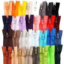 """Fermé fin zip 7"""" 18 cm pour craft pantalon jupe en différentes couleurs, ARJ"""