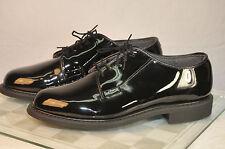 New Mens Bates Vibram Sole Military Dress Shoe High Gloss Black 00941 sz 4.5-15