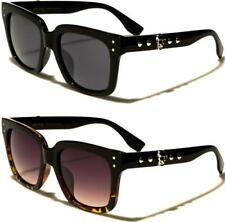 Gafas de Sol Diseñador Cráneo Gótico Grande Retro Spike Grande para Hombre Para Mujer De Las Señoras Negro