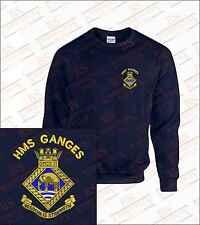 Embroidered HMS GANGES Sweatshirts
