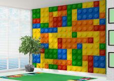 3D Building blocks toy bricks Wallpaper wall mural (12345617) 3d