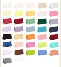 100 farbige blanko Tischkarten Platzkarten viele Farben bunte Karton Faltkarten