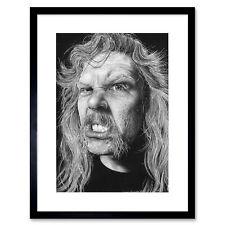 James Hetfield Heavy Metal Wayne Maguire Framed Wall Art Print 9X7 In