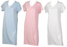 Nightdress Womens Slenderella 100% Cotton Polka Dot Ladies Short Sleeved Nighty