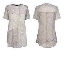 Women's Bastyan Karen Millen Grey Zia Print Zip Top RRP £120