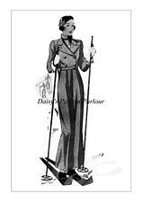 1930 vintage sewing pattern Veste Oxford Sacs Pantalon ECLAIR COUPE PARIS 1930 S