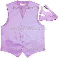 New Men's Vesuvio Napoli Tuxedo Vest Self-tie Bowtie prom party Lavender formal