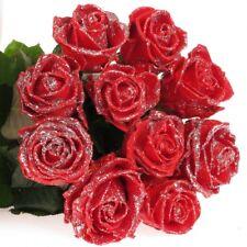 Frische Wachsrosen  glitter/schnee in vielen Farben die Rose die nicht verblüht