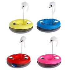 Pet Cat Mouse móvil Spring Ball giratoria Disco redondo Entrenamiento de juguete